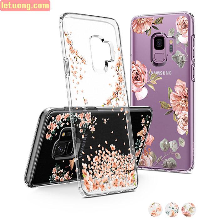 Ốp lưng Galaxy S9 Spigen Liquid Crystal Blossom thời trang từ USA
