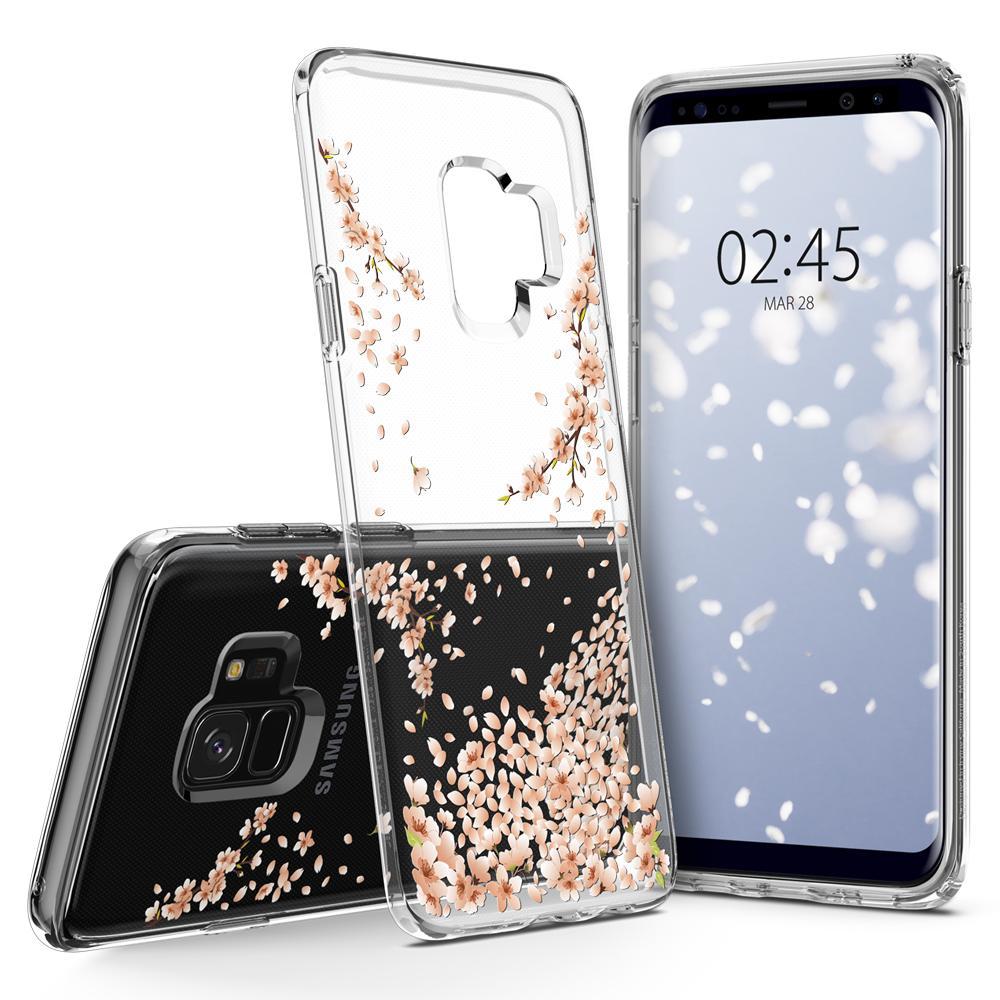 Ốp lưng Galaxy S9 Spigen Liquid Crystal Blossom thời trang từ USA tặng dán lưng Carbon