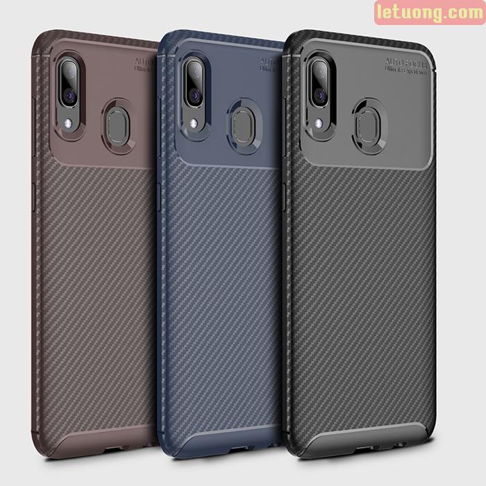 Ốp lưng Galaxy A30 LT Carbon Fiber Case chống vân tay, sang trọng