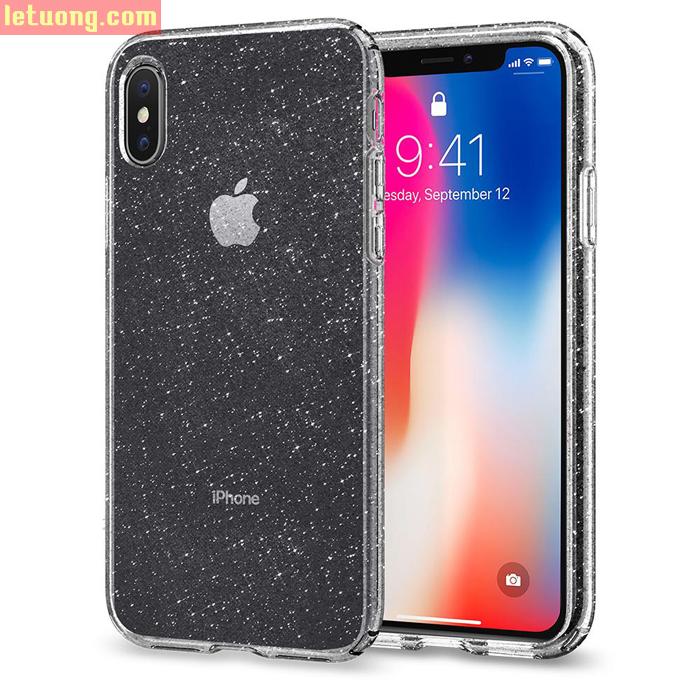 Ốp lưng iPhone Xs Plus Spigen Liquid Crystal Glitter kim tuyến ( Hàng USA )