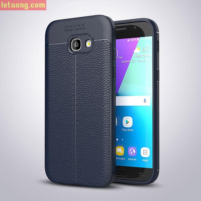 Ốp lưng Galaxy A5 2017 LT Armor vân da nhựa dẻo chống sốc