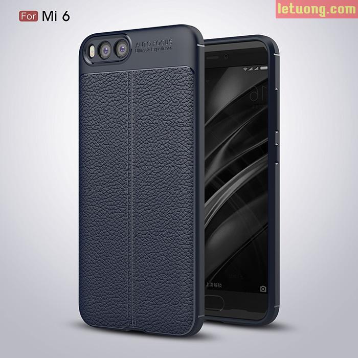 Ốp lưng Xiaomi Mi 6 LT Armor vân da, nhựa dẻo chống sốc
