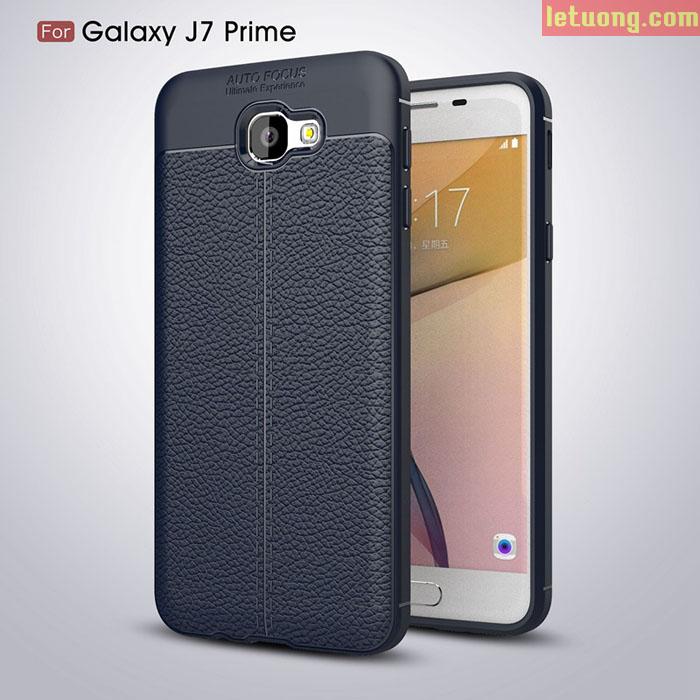 Ốp lưng Galaxy J7 Prime LT Armor vân da nhựa mềm chống sốc