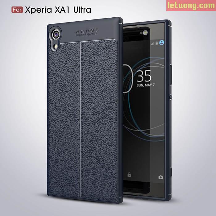 Ốp lưng Sony XA1 Ultra LT Armor vân da nhựa mềm chống sốc