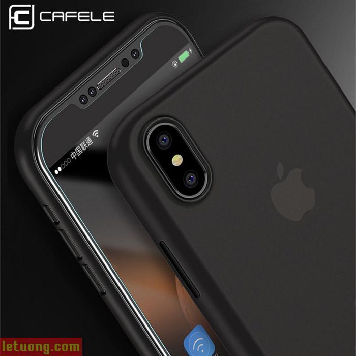 Ốp lưng iPhone X / iPhone Xs Cafele Matte PP mỏng 0,4mm chống vân tay + tặng dán lưng Carbon