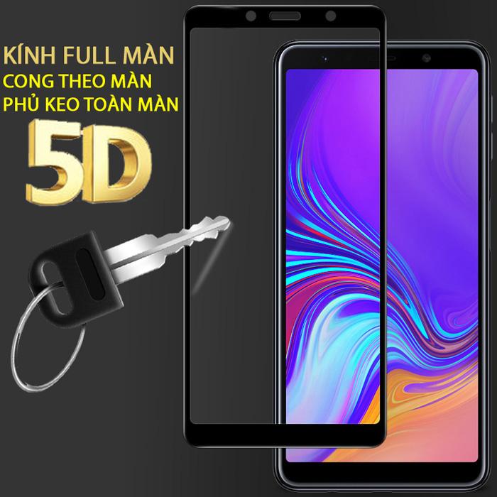 Kính cường lực Galaxy A9 2018 Glass Full Cover 5D XỊN Cong theo màn hình