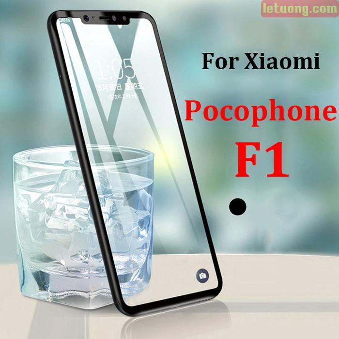Kính cường lực Pocophone F1 Glass Full Cover 5D XỊN Cong theo màn hình