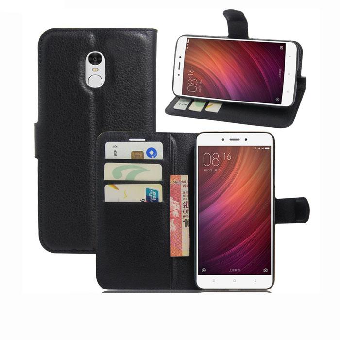 Bao da Redmi Note 4 LT Flip Wallet đa năng khung nhựa mềm