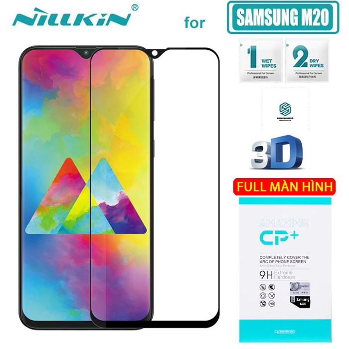 Kính cường lực Galaxy M20 Nillkin 3D CP+ full toàn màn hình