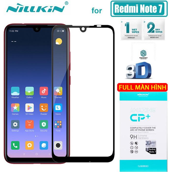 Kính cường lực Redmi Note 7 Nillkin 3D CP+ full toàn màn hình