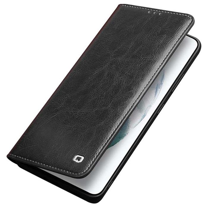 Bao da Galaxy S21 Ultra 5G Qialino Classic Leather Wallet da thật Hanmade