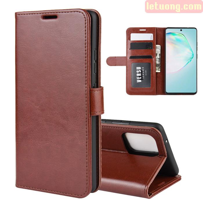 Bao da Samsung S10 Lite LT Flip Wallet dạng ví đa năng - khung mềm