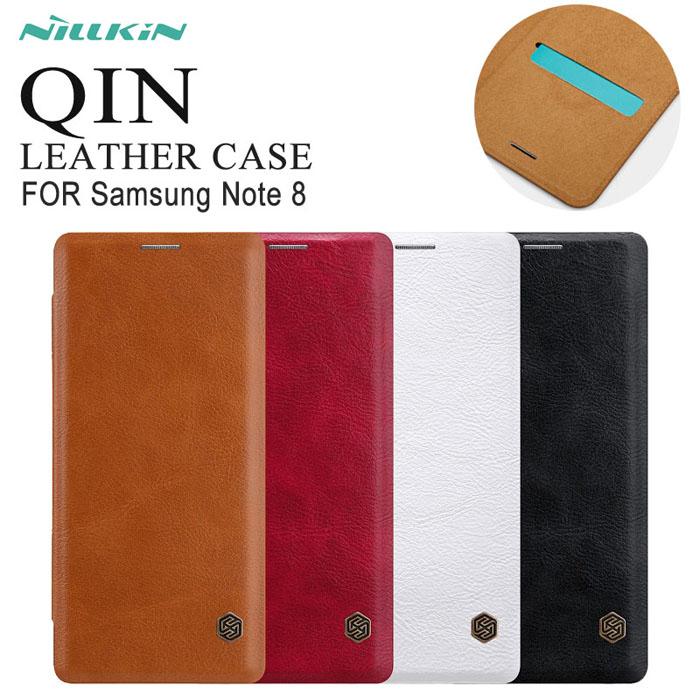 Bao da Galaxy Note 8 Nillkin Qin Leather Case sang trọng, cổ điển