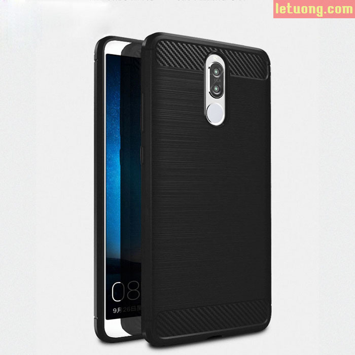 Ốp lưng Huawei Nova 2i Viseaon Rugged Armor Carbon nhựa mềm