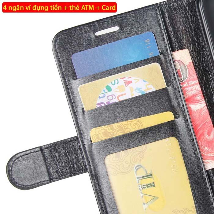 Bao da Galaxy A7 2018 LT Wallet Leather đa năng - khung mềm