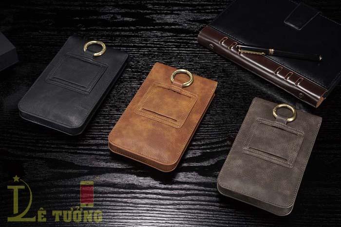Bao da đeo thắt lưng đa năng DG.ming Genuine Leather 2 ngăn đa năng 3