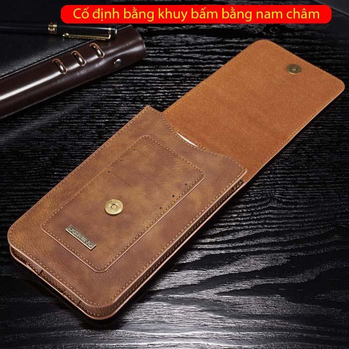 Bao da đeo thắt lưng đa năng DG.ming Genuine Leather 2 ngăn đa năng 7