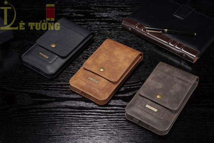 Bao da đeo thắt lưng đa năng DG.ming Genuine Leather 2 ngăn đa năng 2