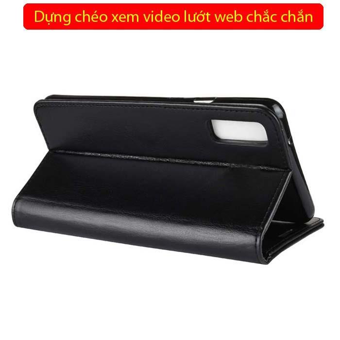 Bao da Galaxy A7 2018 LT Wallet Leather đa năng - khung mềm 3