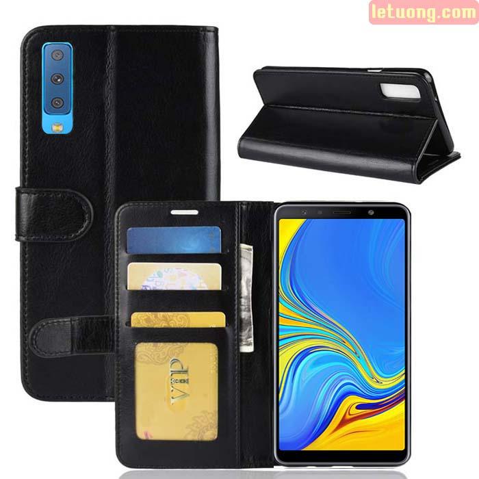 Bao da Galaxy A7 2018 LT Wallet Leather đa năng - khung mềm 1