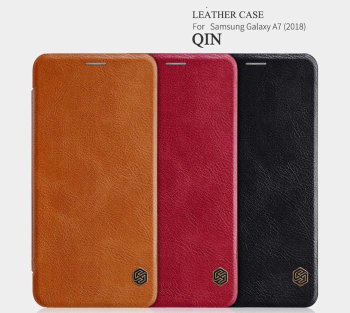 Bao da Galaxy A7 2018 Nillkin Qin Leather sang trọng - cổ điển 1