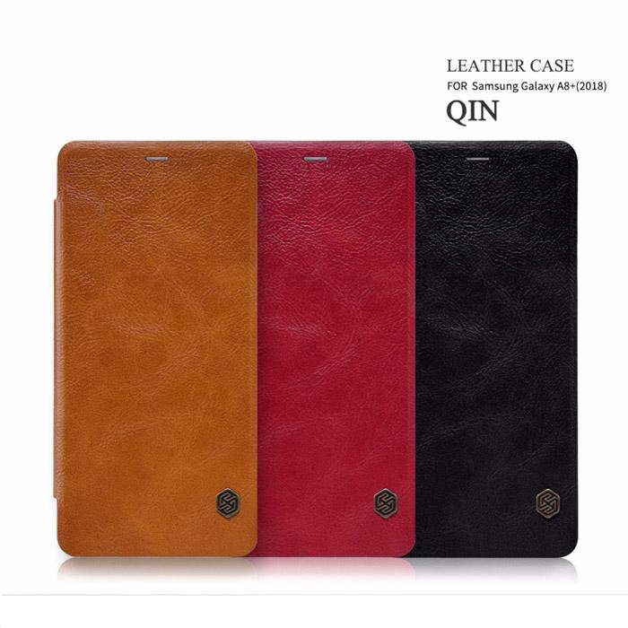 Bao da Galaxy A8 Plus 2018 Nillkin Qin Leather Case sang trọng 1