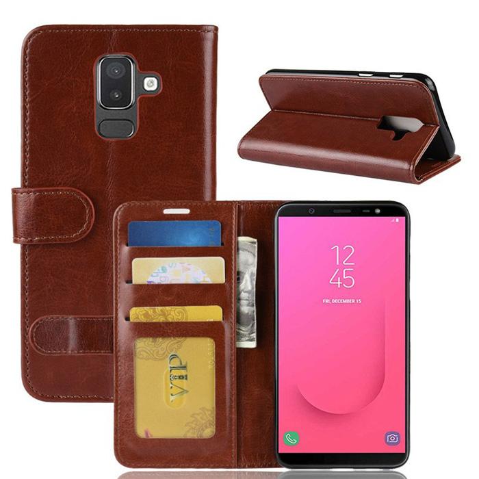 Bao da Galaxy J8 2018 LT Wallet Leather dạng ví đa năng - khung mềm 1