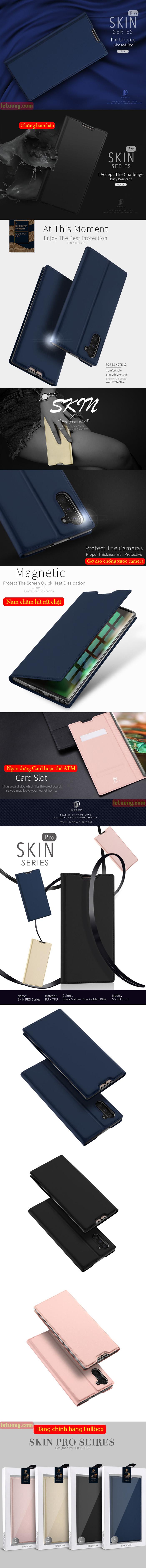 Bao da Galaxy Note 10 Dux Ducis Skin khung mềm - siêu mỏng - siêu mịn 5
