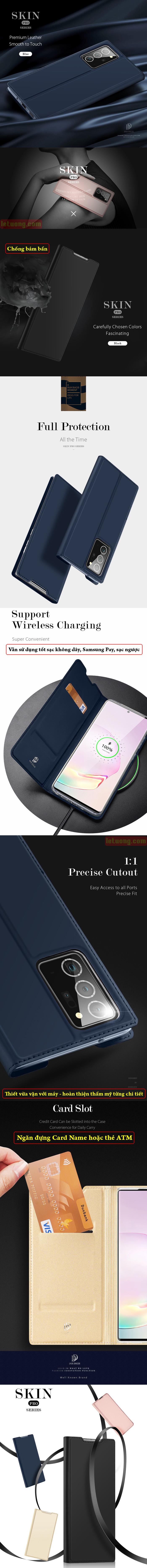 Bao da Galaxy Note 20 Ultra / 5G Dux Ducis Skin siêu mỏng - siêu mịn 6