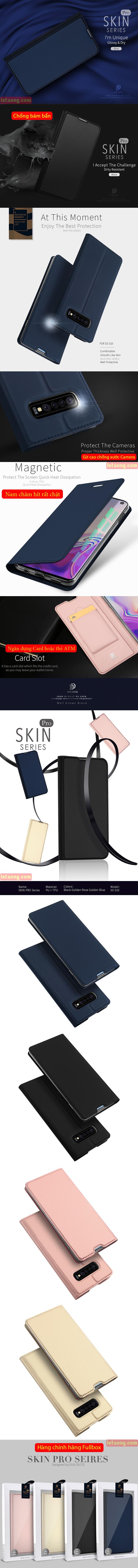 Bao da Galaxy S10 Dux Ducis Skin khung mềm - siêu mỏng - siêu mịn 5