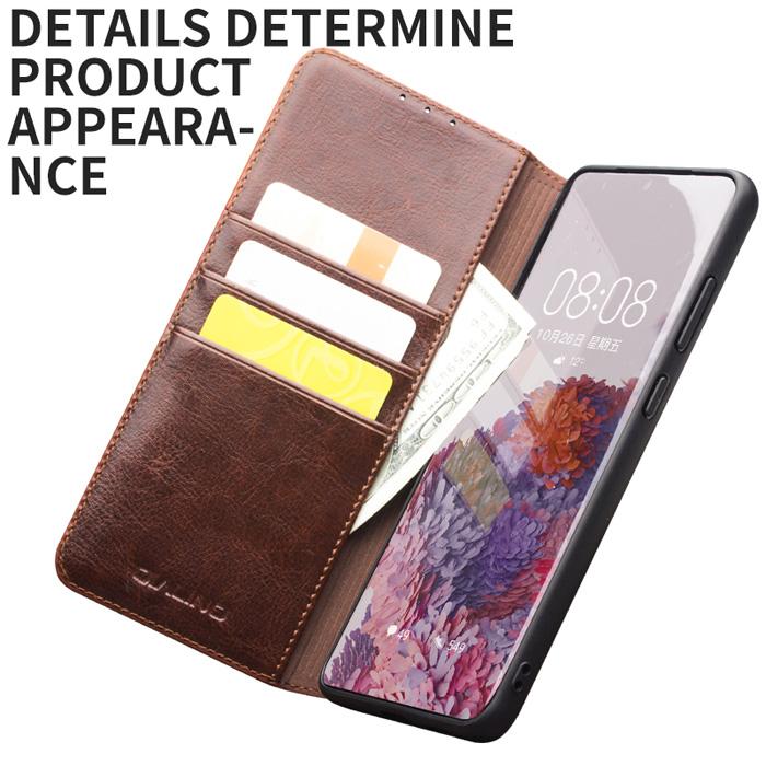 Bao da Galaxy S20 Ultra Qialino Classic Leather Wallet da thật Hanmade 4