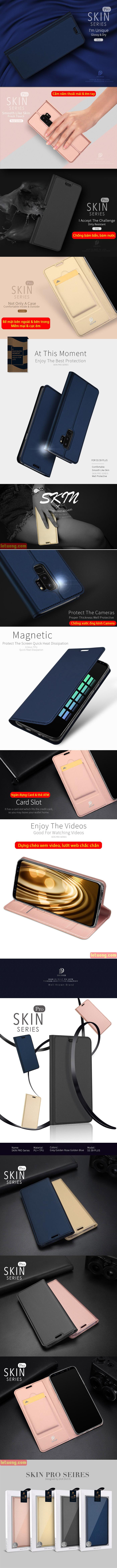 Bao da Galaxy S9 Plus Dux Ducis Skin khung mềm, siêu mỏng, siêu mềm 5