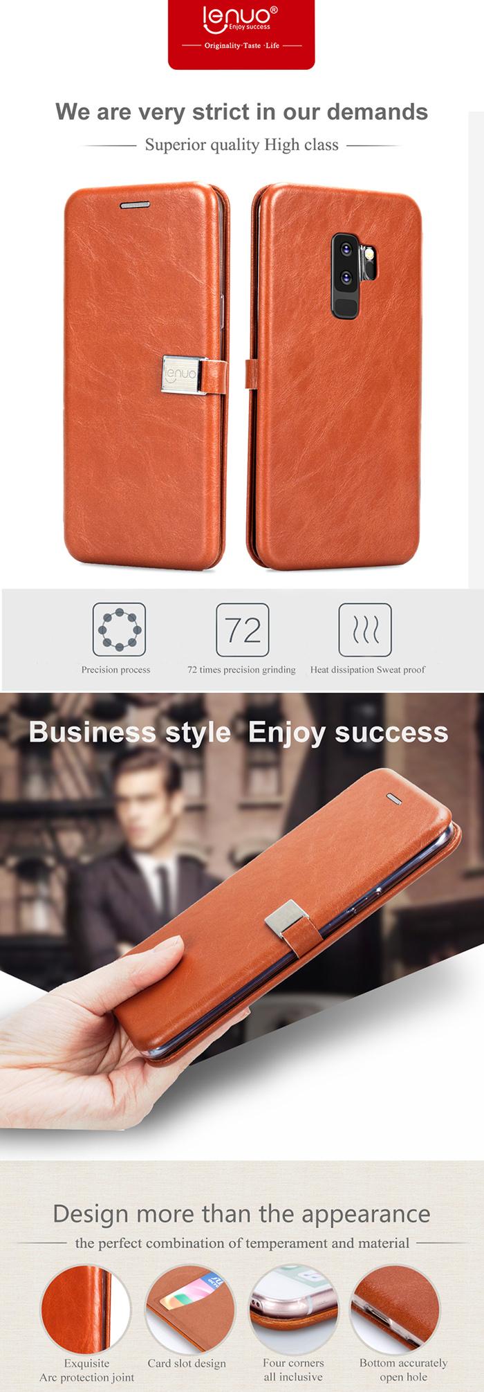 Bao da Galaxy S9 Plus Lenuo Lebe Flip Case độc đáo, đẹp mắt 2