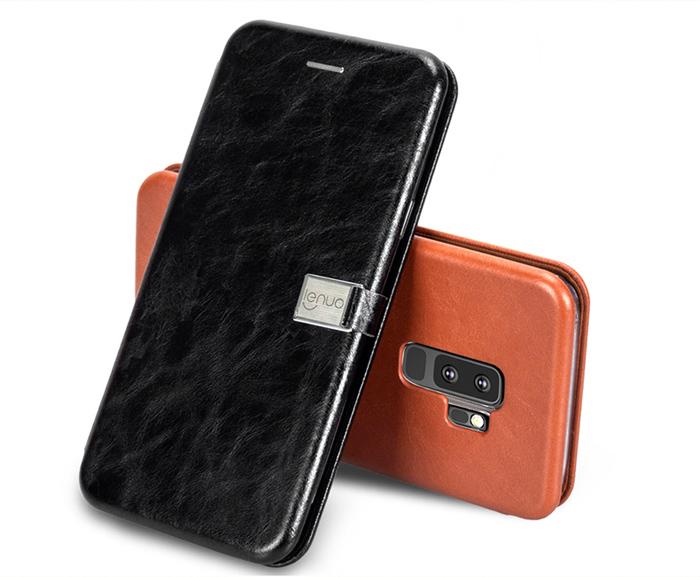 Bao da Galaxy S9 Plus Lenuo Lebe Flip Case độc đáo, đẹp mắt 1