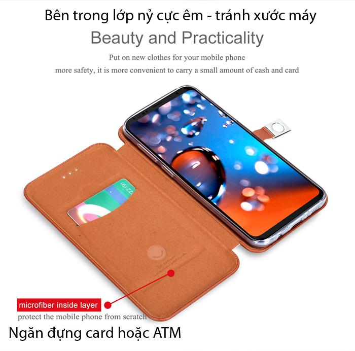 Bao da Galaxy S9 Plus Lenuo Lebe Flip Case độc đáo, đẹp mắt  4