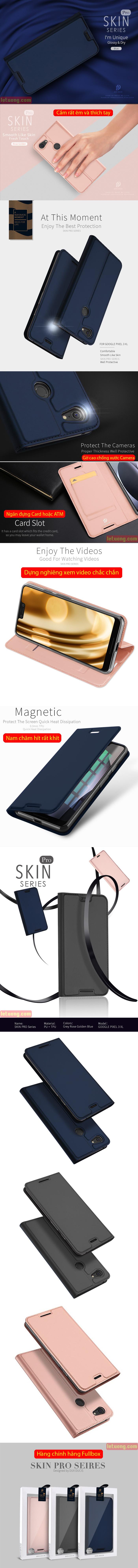 Bao da Google Pixel 3 XL Dux Ducis Skin khung mềm, siêu mỏng 4