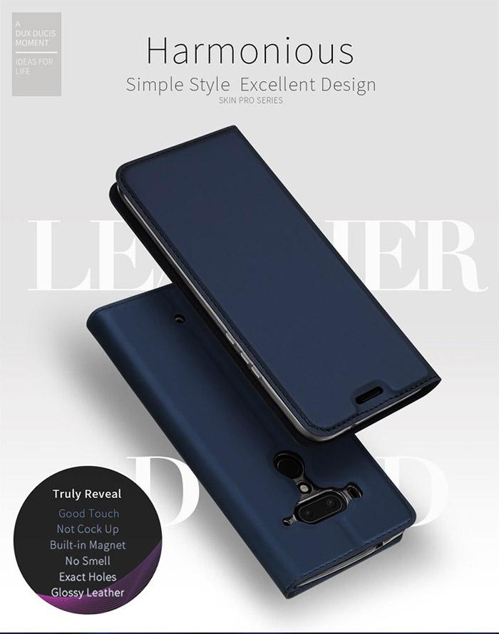 Bao da HTC U12 Plus Dux Ducis Skin siêu mỏng - khung mềm - Siêu êm 1