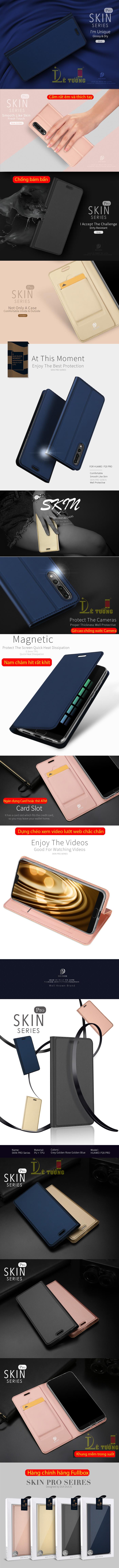 Bao da Huawei P20 Pro Dux Ducis Skin siêu mỏng - khung mềm 4