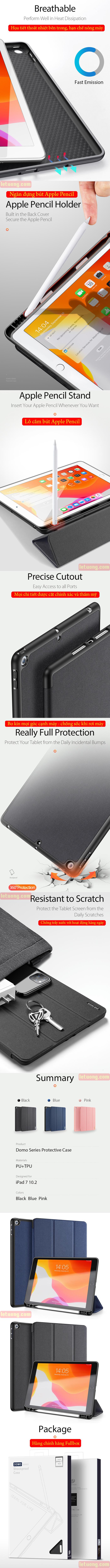 Bao da iPad 10.2 inch 2019 Ducc Ducis Domo Tiện Lợi - Chống Sốc 6