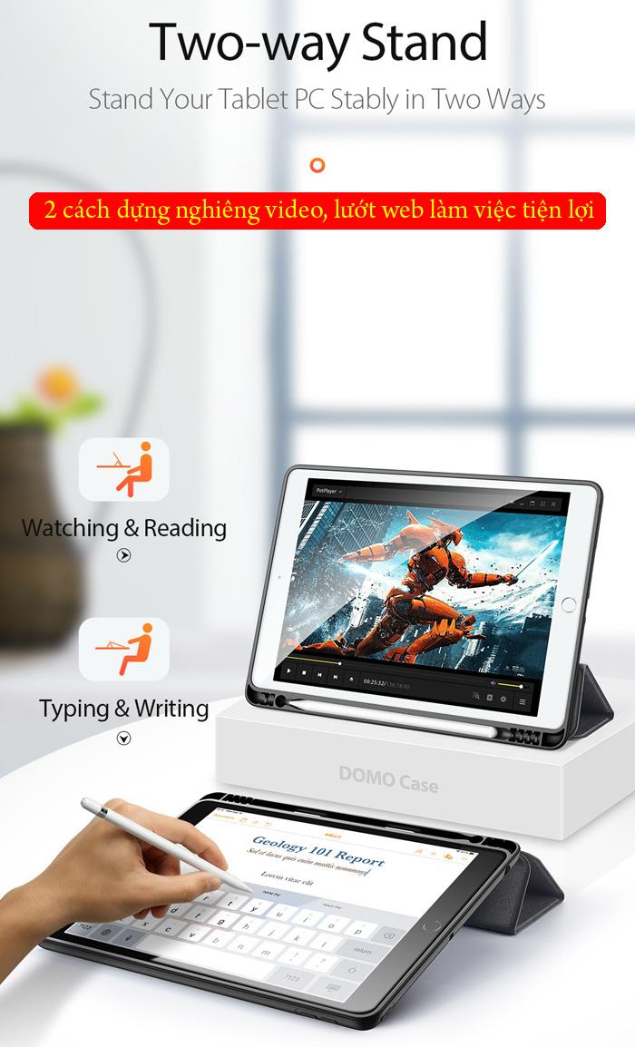 Bao da iPad 10.2 inch 2019 Ducc Ducis Domo Tiện Lợi - Chống Sốc 2