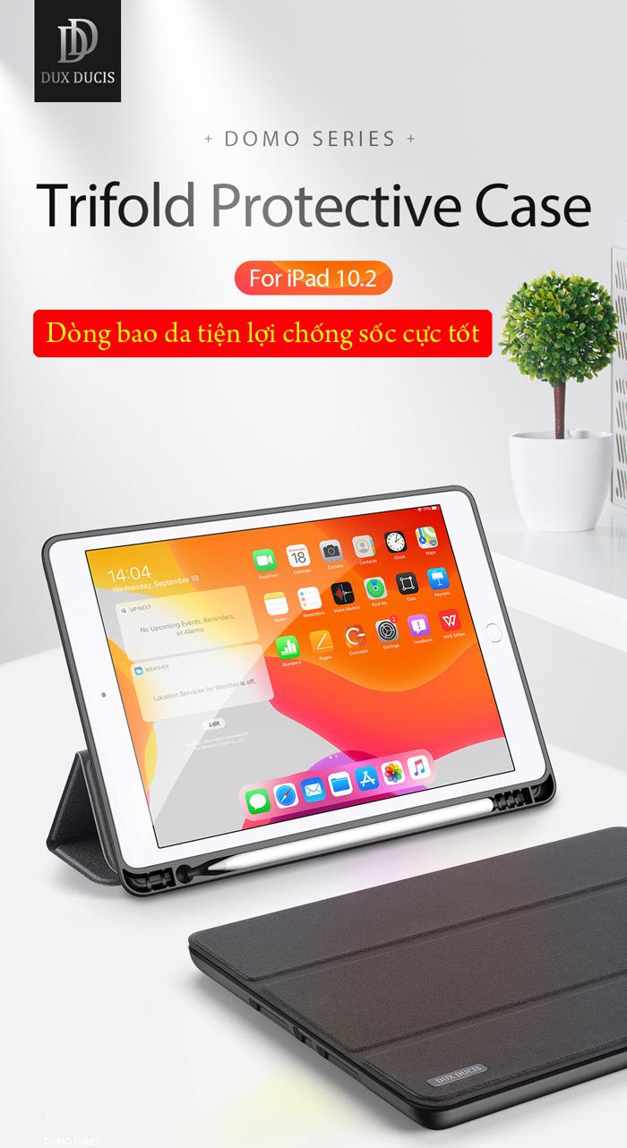 Bao da iPad 10.2 inch 2019 Ducc Ducis Domo Tiện Lợi - Chống Sốc 1