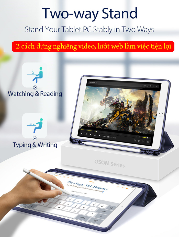 Bao da iPad 10.2 inch 2019 Dux Ducis Osom Siêu Mỏng - Mềm Mịn 2