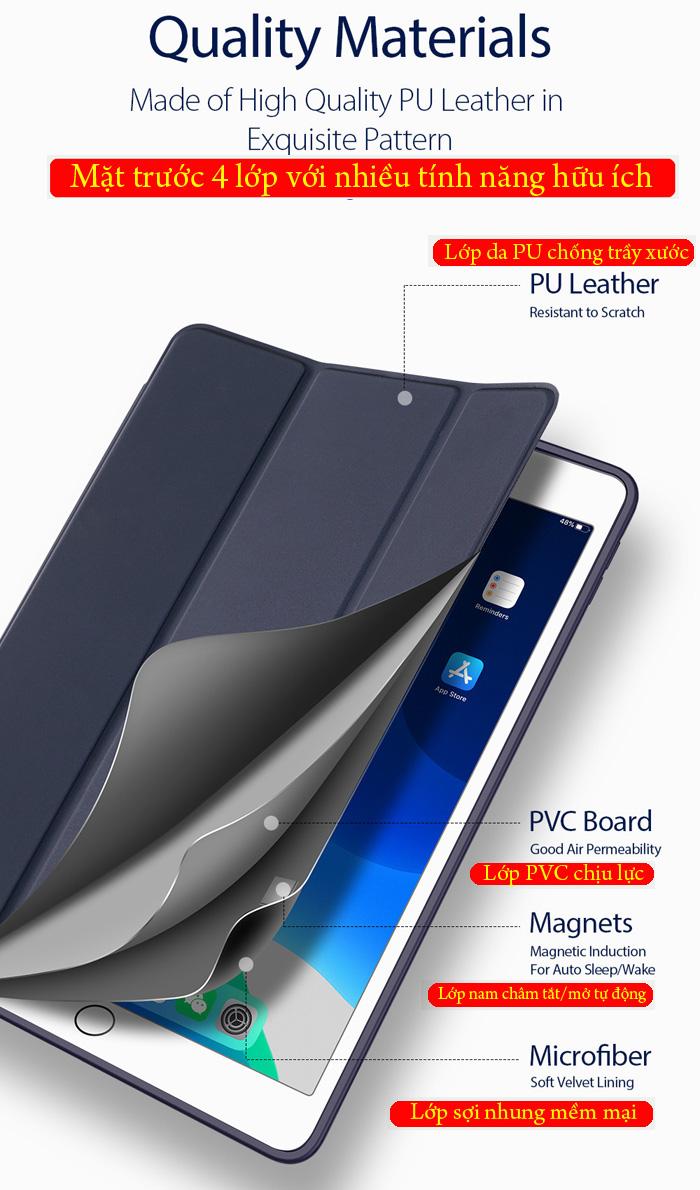 Bao da iPad 10.2 inch 2019 Dux Ducis Osom Siêu Mỏng - Mềm Mịn 1