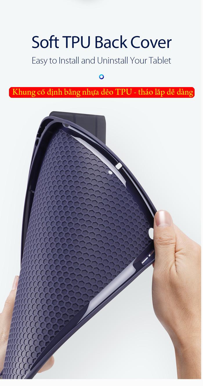 Bao da iPad 10.2 inch 2019 Dux Ducis Osom Siêu Mỏng - Mềm Mịn 3