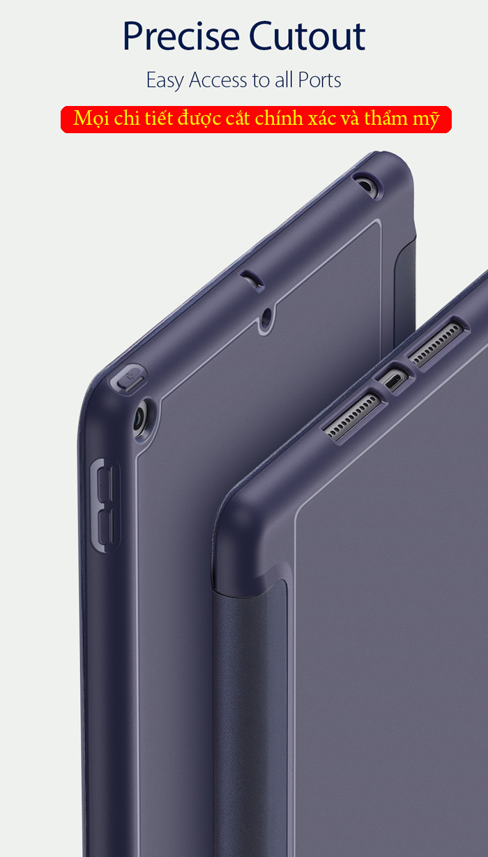 Bao da iPad 10.2 inch 2019 Dux Ducis Osom Siêu Mỏng - Mềm Mịn 5