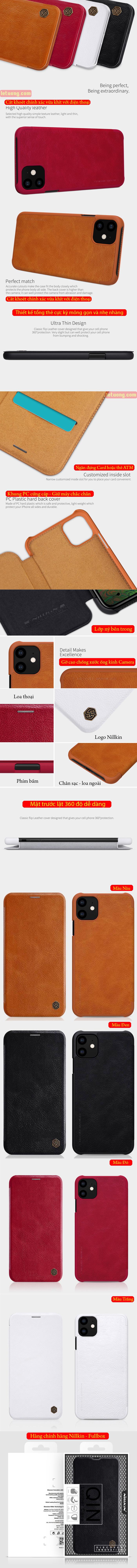 Bao da iPhone 11 Nillkin Qin Leather sang trọng - cổ điển 2