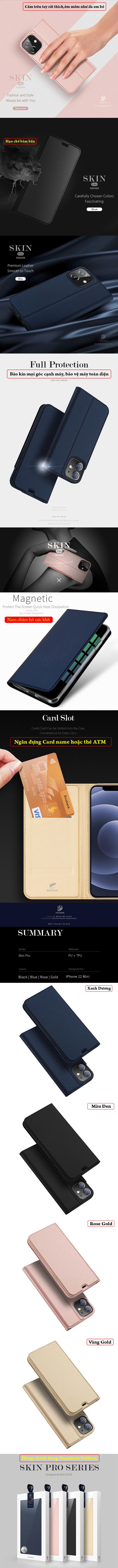 Bao da iPhone 12 Mini Dux Ducis Skin Siêu mỏng - mềm mịn 5