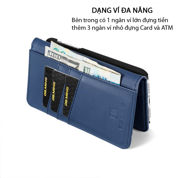Bao da iPhone Xr DG.ming Genuine Leather 2 trong 1 cực đẹp 2