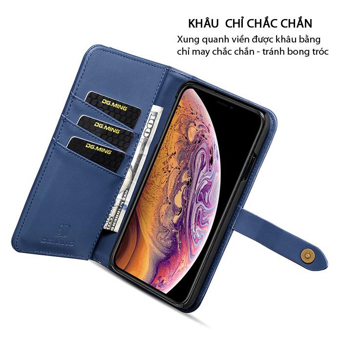 Bao da iPhone Xr DG.ming Genuine Leather 2 trong 1 cực đẹp 3