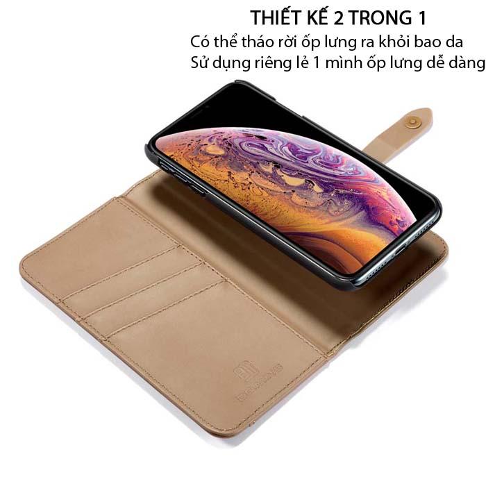 Bao da iPhone X / Xs DG.ming Genuine Leather 2 trong 1 cực đẹp 1